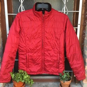 L.L. Bean quilted polyester fleece lined jacket